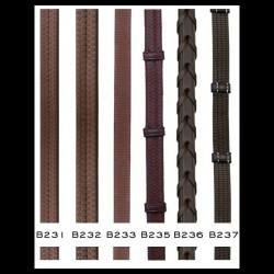 Rênes caoutchouc et cuir avec arretoirs Dyon