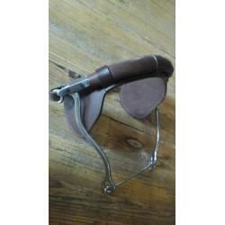 Hackamore Métalab muserolle cuir taille cheval