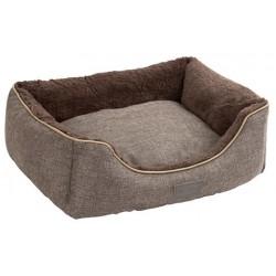 Coussin pour chien gris foncé et gris chiné