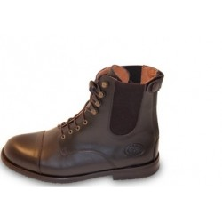 Baloubet boots cuir lacets et zip HFI