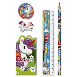 Set de papeterie Unicorn