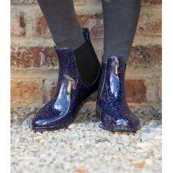 Boots plastiques sparkly marine