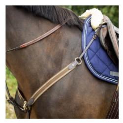 Collier de chasse cuir et élastiques HFI avec martingale amovible