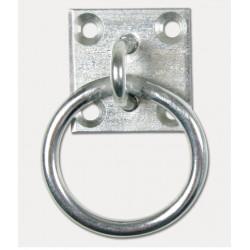 Anneau d'attache sur plaque métal