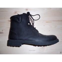Boots à lacets en nubuck huilé